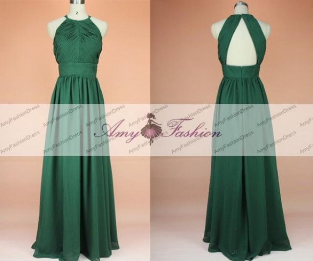 Emerald Green Bridesmaid Dress Long Dark Green Evening