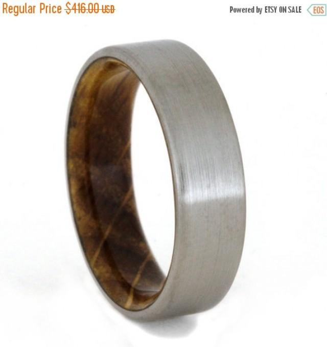 Holiday Sale 15 Off Jack Daniels Whiskey Barrel Ring With Titanium Overlay Wedding Band 2432789