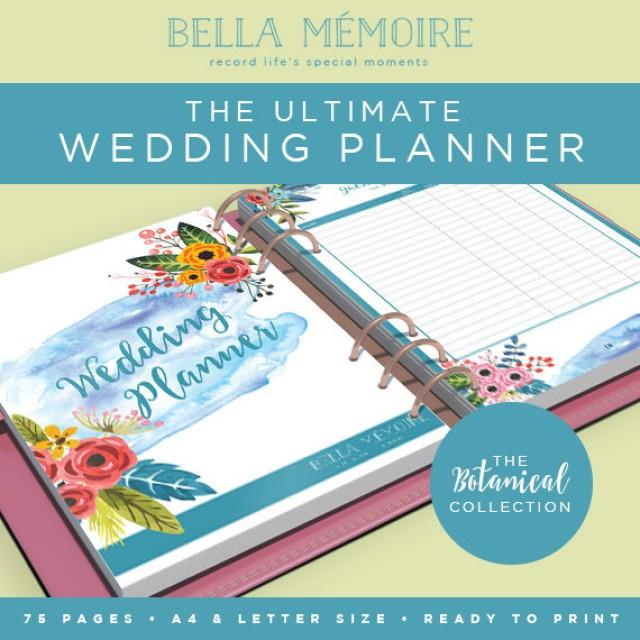 Gut gemocht Printable Wedding Planner - Botanical Collection // INSTANT  NG46