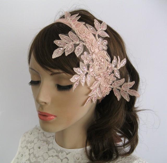 Bridal Fascinator Beaded Weddings Hair Piece Headband
