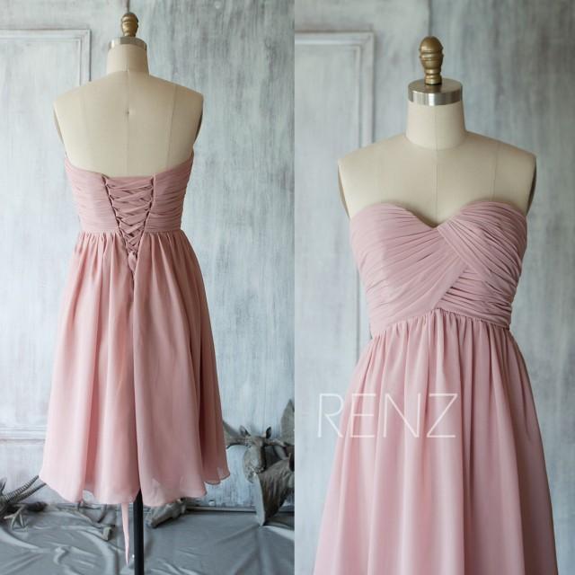 2015 Bridesmaid Dress Pink, Sweetheart Short Wedding Dress ...