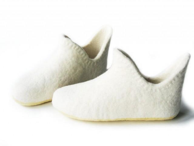e3d22820a5e9d Wedding Shoes Gift-Womens White Shoe-White Women Home Slippers-High ...