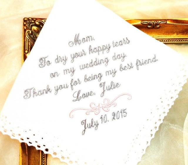 Gift For My Bride On Wedding Day: Wedding Gift For Mother Of The Bride Handkerchief