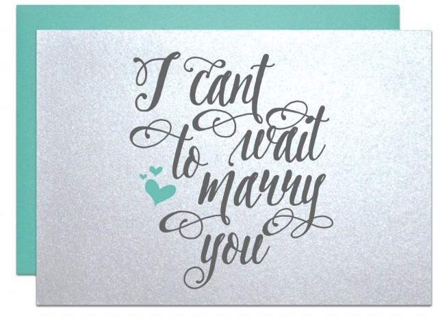 Gifts For Fiance On Wedding Day: I Cant Wait To Marry You, Wedding Card For Bride Gift Note