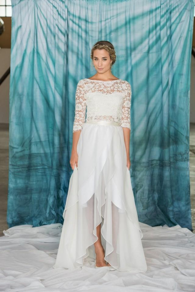 Long chiffon wrap skirt chiffon skirt simple wedding for Shorten wedding dress after wedding