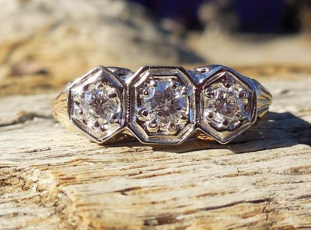 Vintage Antique 60ct Old European Cut Diamond Unique