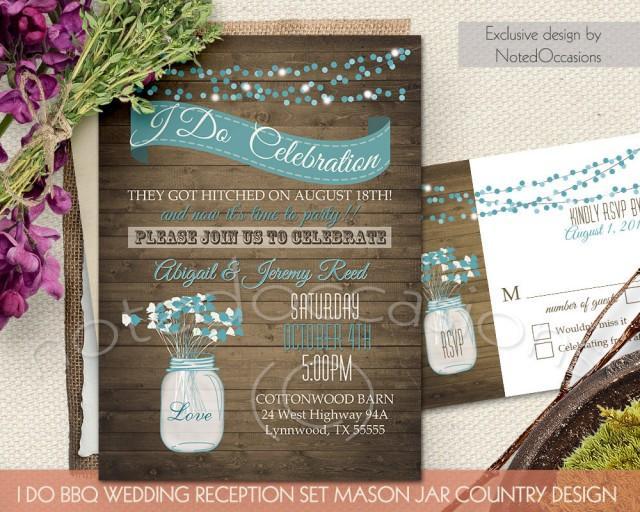 Rustic Western Wedding Invitations: I Do BBQ Wedding Invitation #2436092