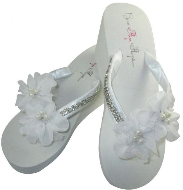 53efb4d00258bb Bridal Wedge Flip Flops