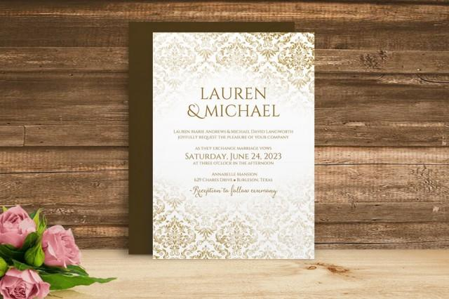 How Soon Do You Send Out Wedding Invitations: DiY Wedding Invitation Template