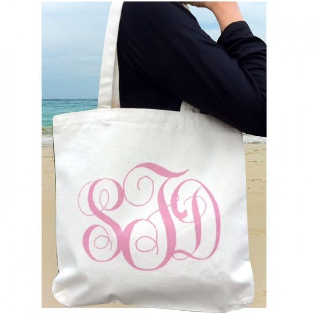 printed monogram tote bag wedding tote bag bridesmaid tote bag bridesmaid bag bridesmaid gift. Black Bedroom Furniture Sets. Home Design Ideas