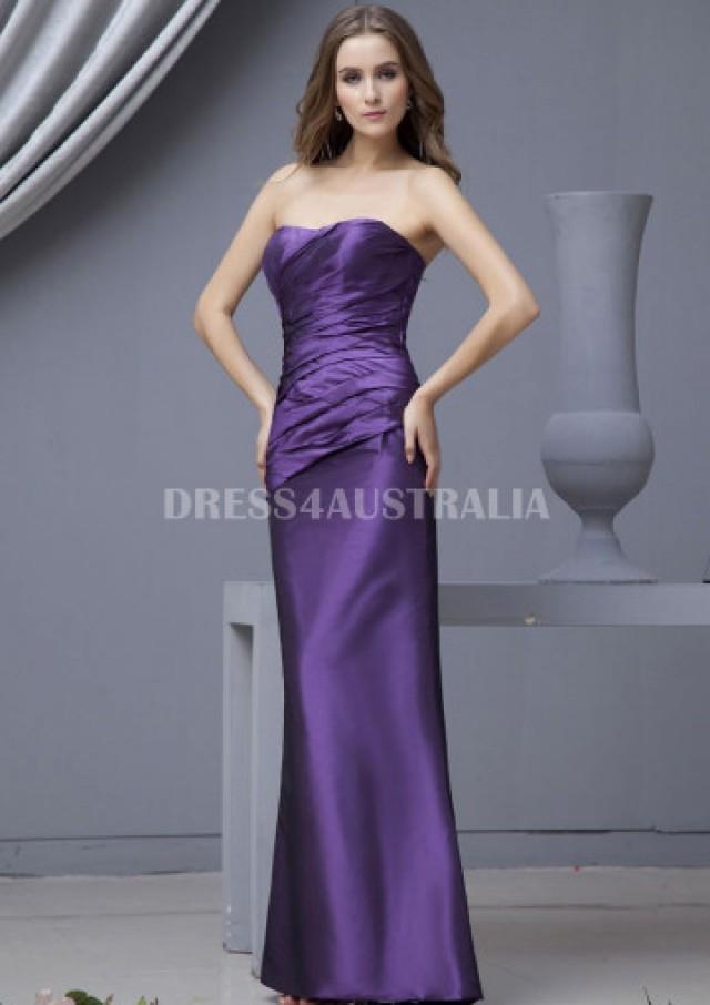 Australia A Line Strapless Regency Taffeta Floor Length Bridesmaid Dresses 81320991 At Au 141 37 Dress4australia 2436628 Weddbook