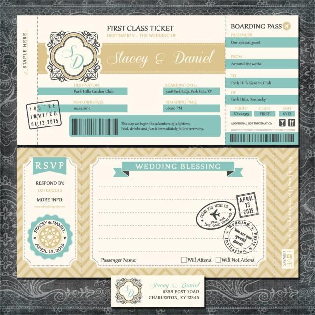 Plane Ticket Wedding Invitations: Plane Ticket Wedding Invitations