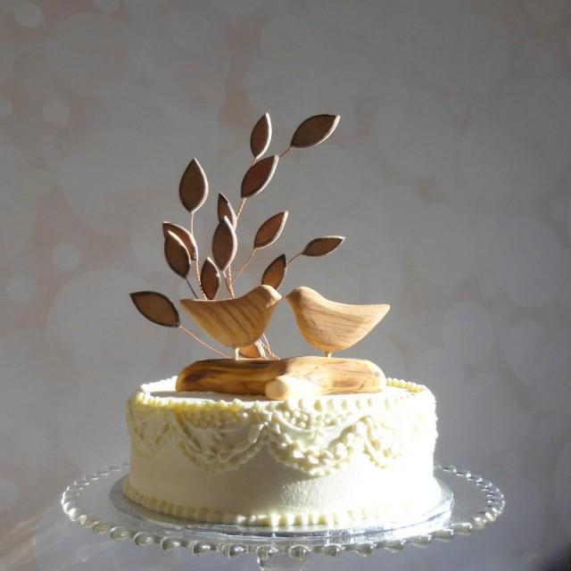Wedding Cake Toppers Wooden Birds