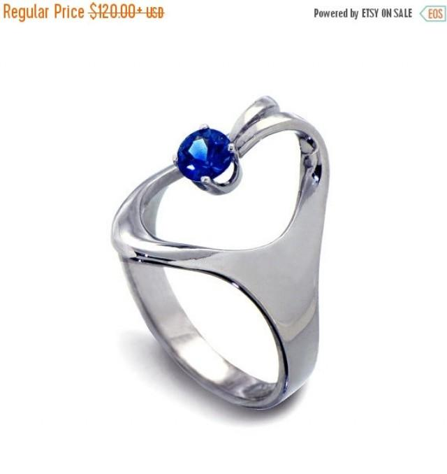 for cut sapphire jewelry her titanium silver promise lajerrio crown round white rings