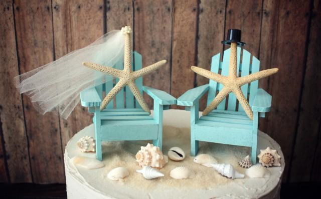 Adirondack Chairs Cake Topper White