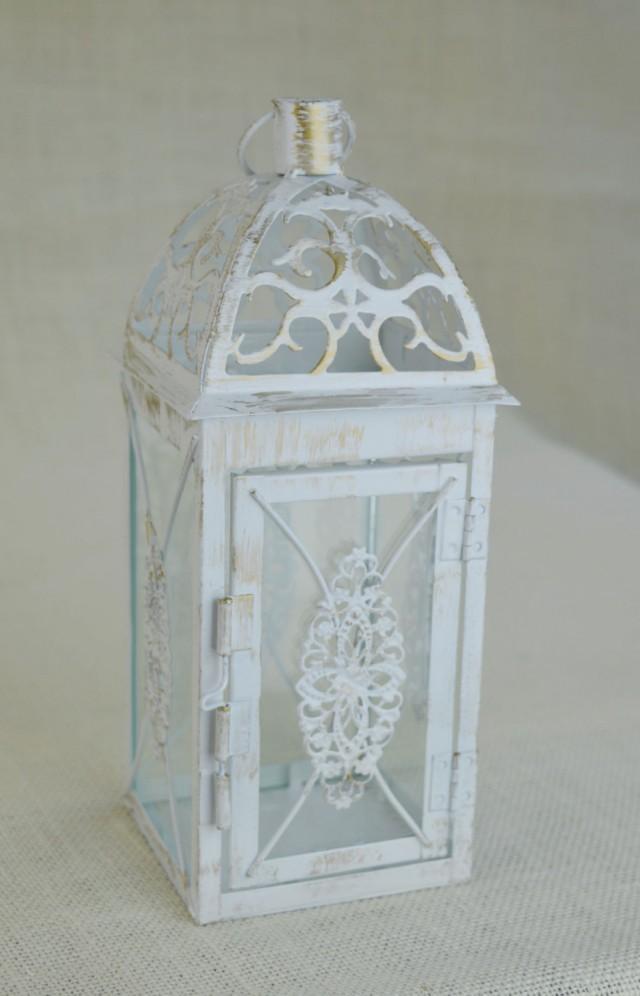 No L001 Wedding 10 1 2 Inch Lantern Centerpiece Vintage