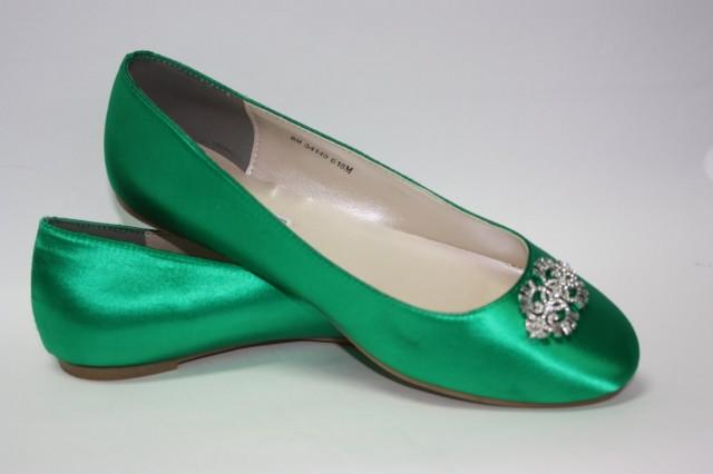Wedding Shoes Emerald Green Flat Wedding Shoe Ballet