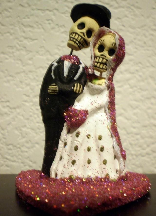 Hot Pink Till Do Us Part Dia De Los Muertos Cake Topper Wedding Engagment Party Day Of The Dead 2438683 Weddbook