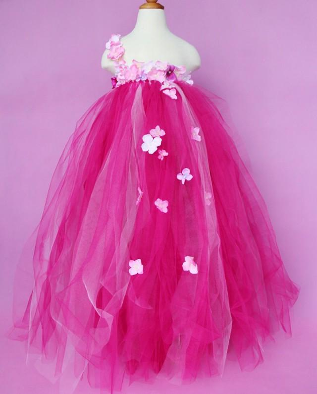 hot pink flower girl dress № 139521