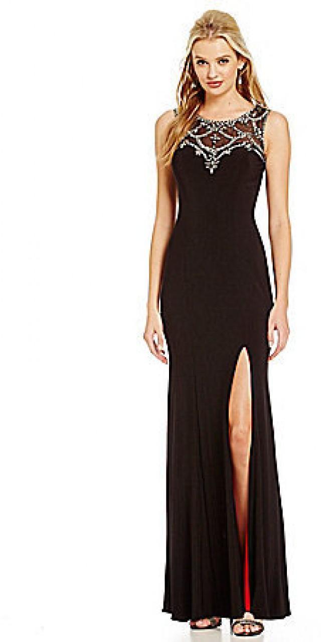 Betsy & Adam Beaded Illusion Gown #2439530 - Weddbook