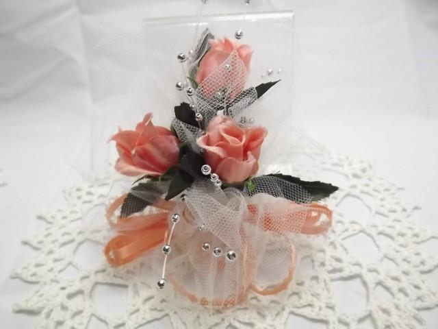 Boho peach silk flower wrist corsage bridal party roses wedding boho peach silk flower wrist corsage bridal party roses wedding accessory for bridesmaidmothergrandmother or graduation prom dance 2439870 mightylinksfo