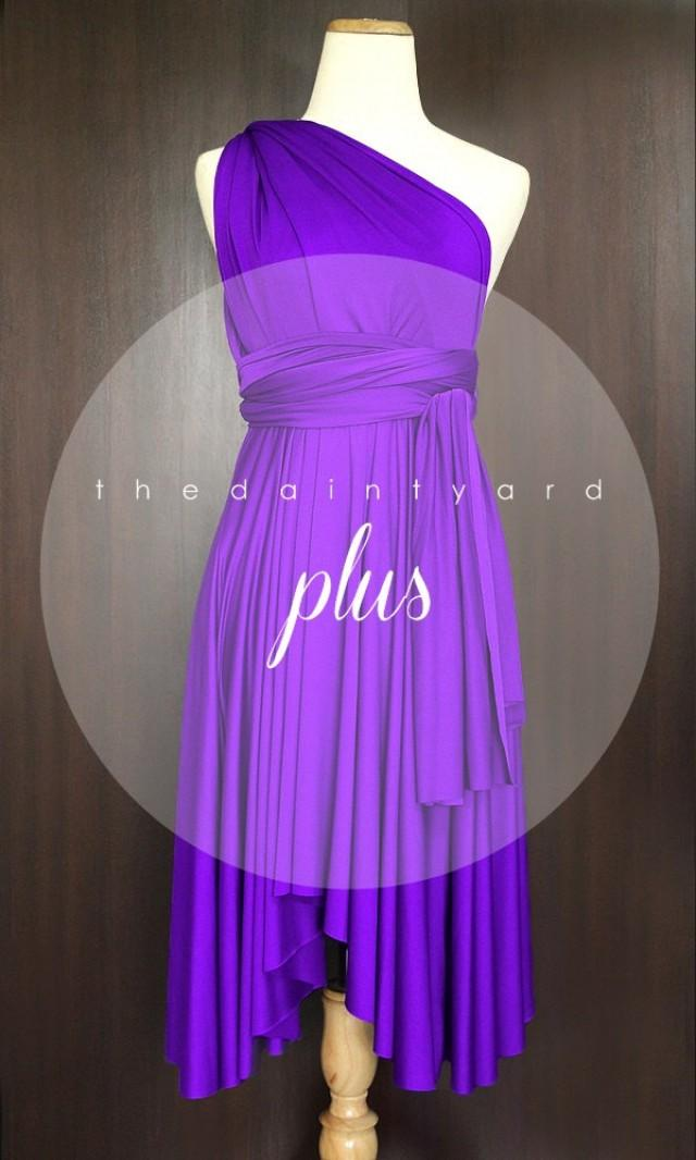 Plus Size Barney Bridesmaid Dress Convertible Dress Infinity Dress ...