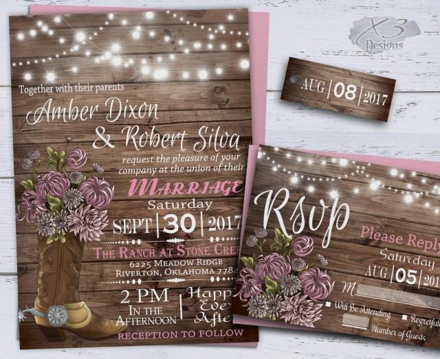 Country Wedding Invitations, Western Wedding Invitations ...