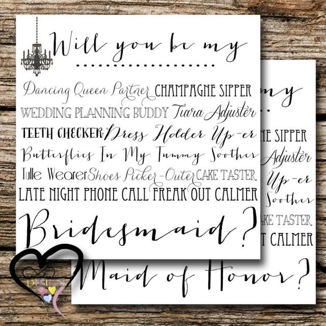 Bridesmaid Proposal Card Ask Set Of Two Wedding Party Be My In 2440506