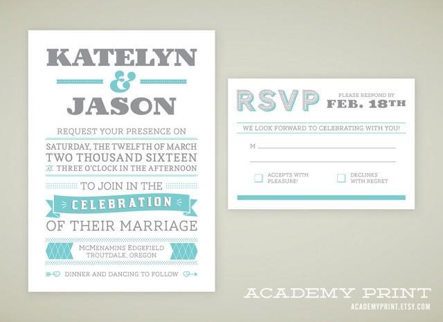 Rsvp Wedding Invitation Wording: Printable Wedding Invitation And RSVP Set For Multnomah