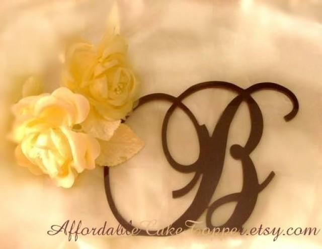 Brown Cake Topper - Wedding Cake Topper - Custom Brown Personalized ...