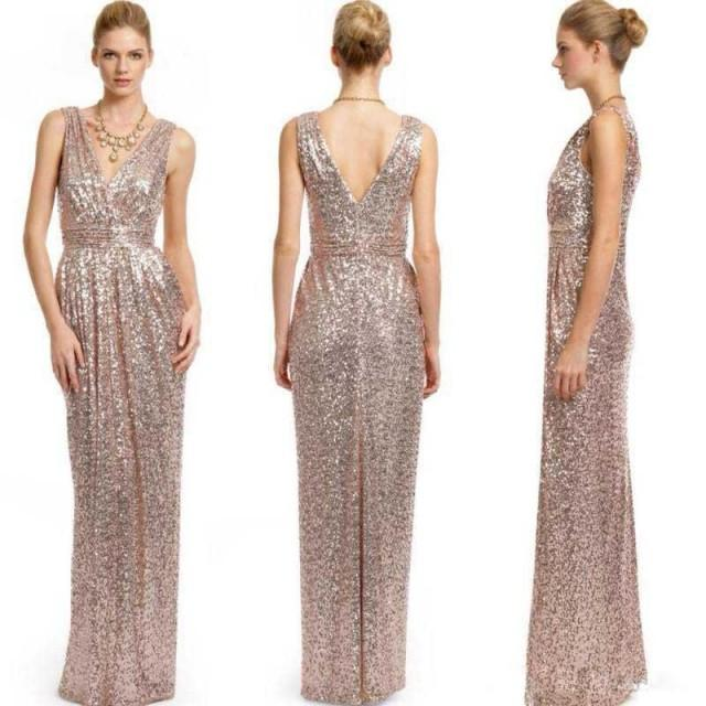 Blingbling sequins long bridesmaid dresses 2016 hot sale for Wedding dresses for sale cheap