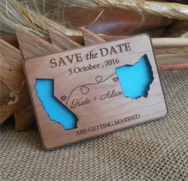 state love wood save-the-date magnets 100/ destination wooden, Wedding invitations