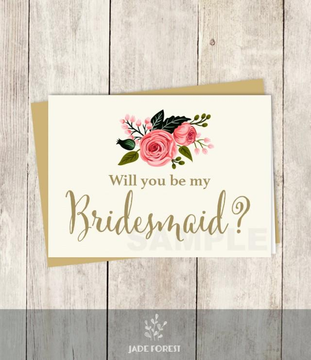 Be My Bridesmaid // Will You? // Wedding Card DIY