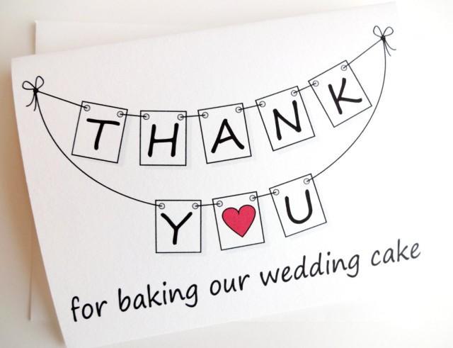 Thank You For Baking: THANK YOU For Baking Our Wedding