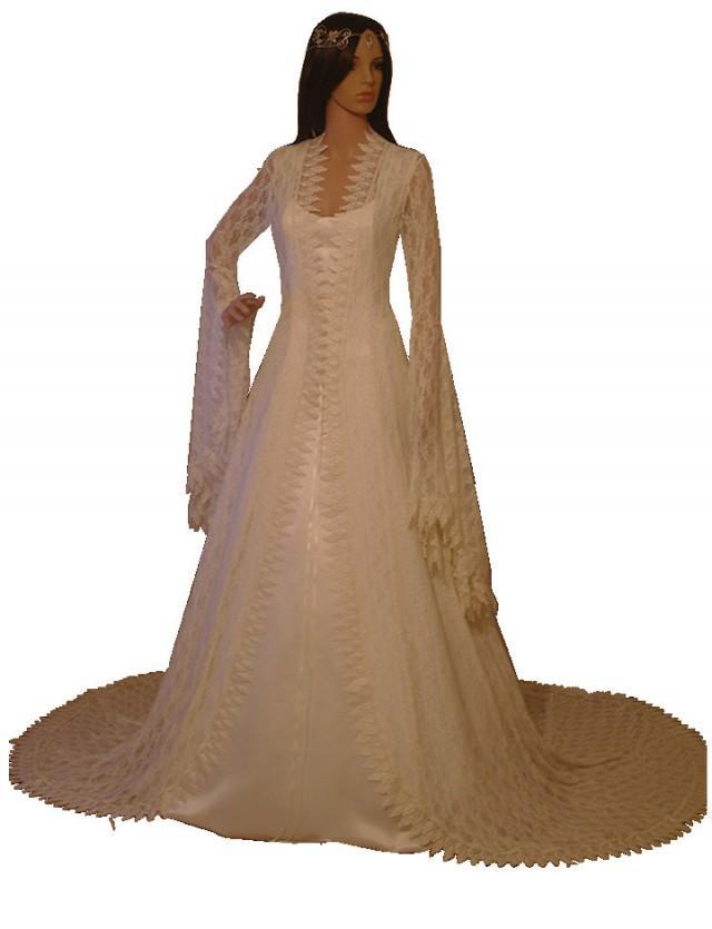 Elven Dress Renaissance Lace Wedding Dress Vintage Style