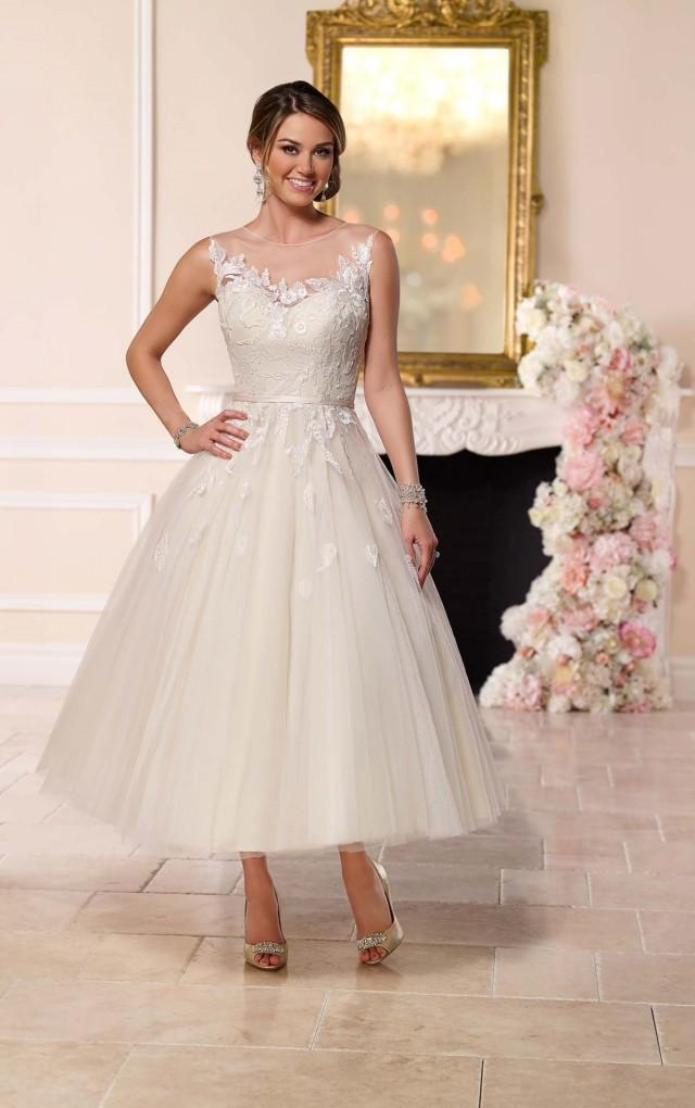 fb8c83bf754 Stella York Tea-Length Tulle Wedding Dress Style 6258  2442603 - Weddbook