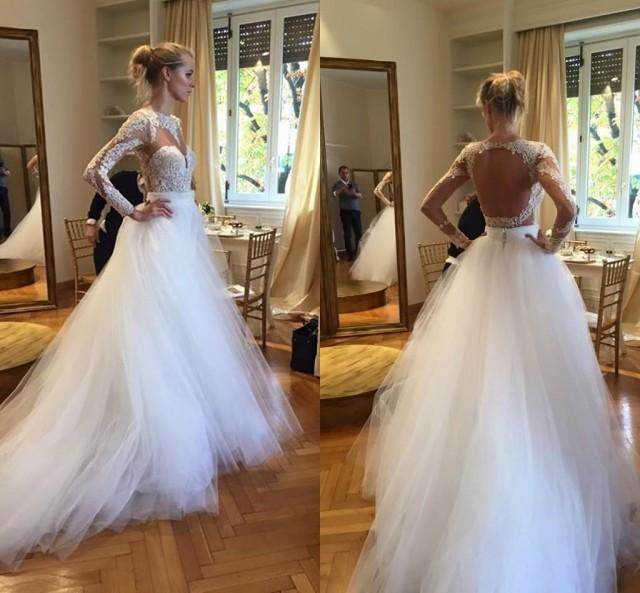 Lace Wedding Gown Designers: 2016 Plus Size Berta Ball Gown Wedding Dresses Long