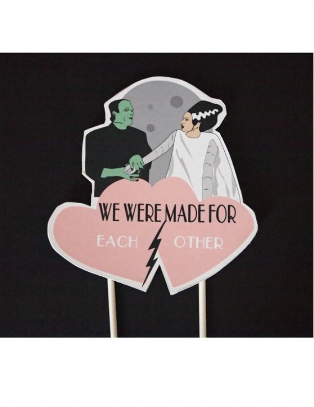 Wedding Cake Frankenstein Bride Of Frankenstein Topper Valentines