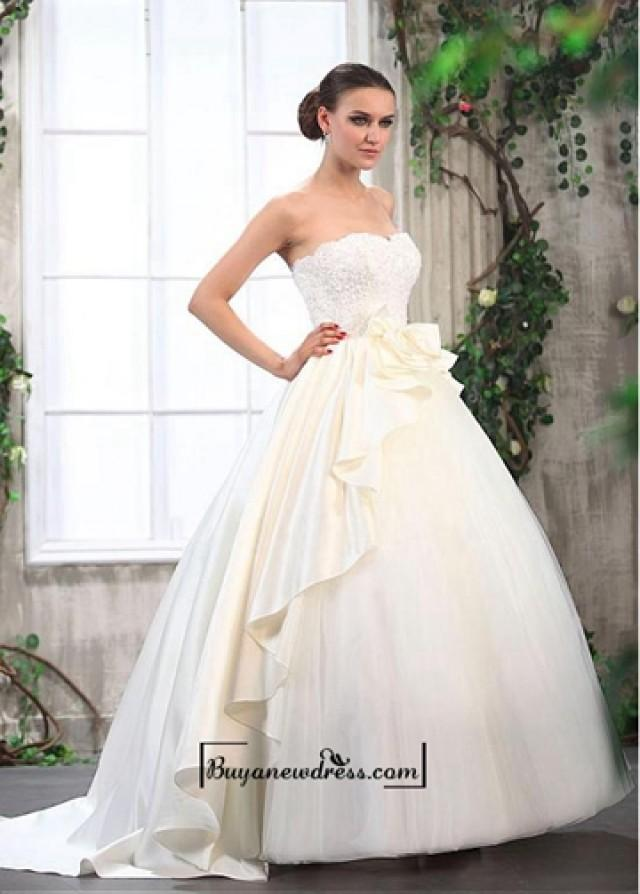 Alluring Tulle & Satin Ball Gown Sweetheart Neckline Empire Waist ...