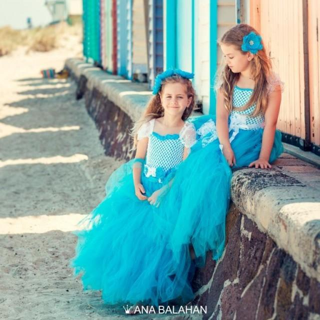 Flower Dress Turquoise Modern Tutu Blue Fairy 2443894 Weddbook