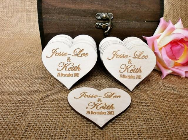 Personalised Wedding Gifts For Guests: Custom Save The Date, Rustic Wedding Favor, Rustic Save