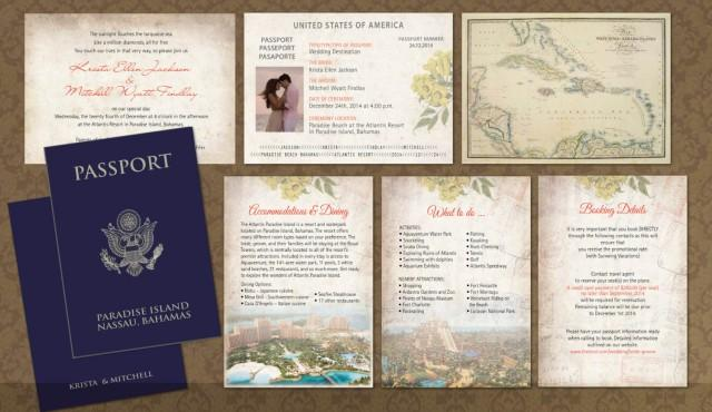 Jamaica Wedding Invitations: Passport Wedding Invitation Booklets // Real Passport