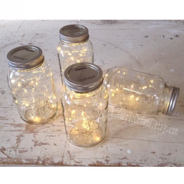 Bundle Of Fairy Lights Mason Jar Lights Firefly Lights Rustic