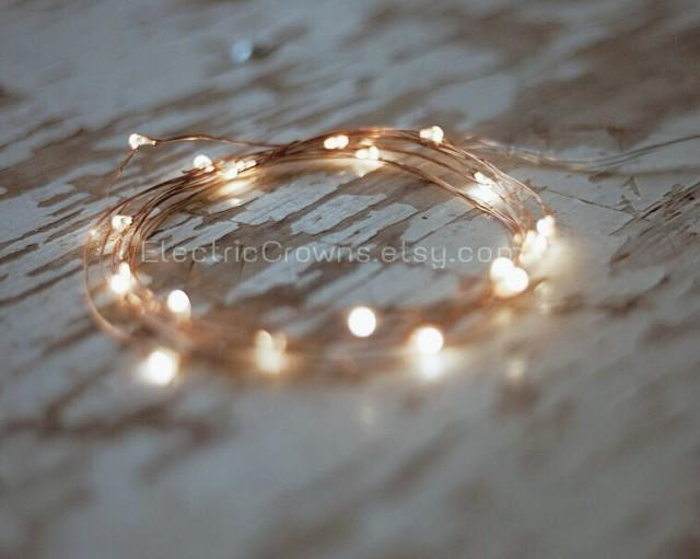 Led Lights, Copper Wire Rustic Wedding Outdoor Wedding Barn Wedding ...