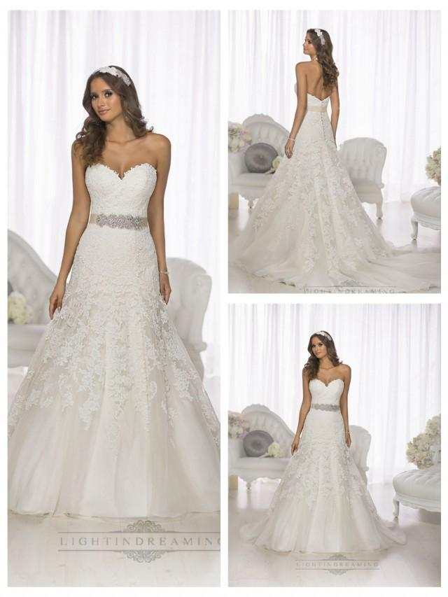 Gorgeous Vintage Sweetheart A-line Lace Over Wedding Dresses ...