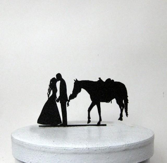 horse themed wedding cake toppers