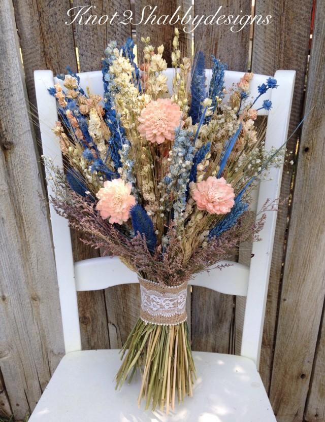 Sola Flower Wildflower Dried Flower Bouquet Wedding Flowers