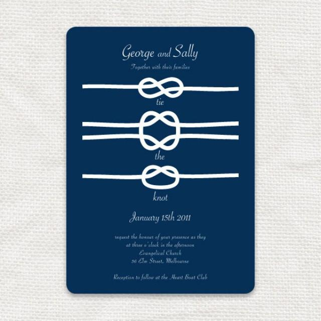 picture regarding Printable Knot Tying Cards identify Printable Marriage Invitation Nautical Seaside Boat Military services Knots
