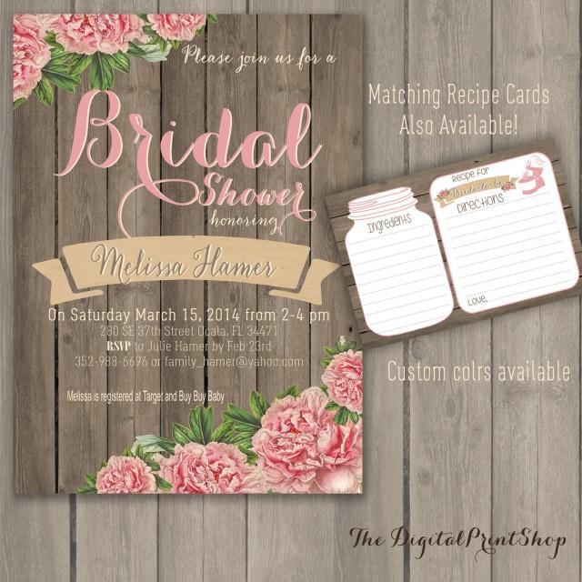 Rustic Chic Bridal Shower Invite Rustic Invitation Chalkboard and Lace DIY Invite Chic Wedding DIY Printable Invitation Bridal Shower