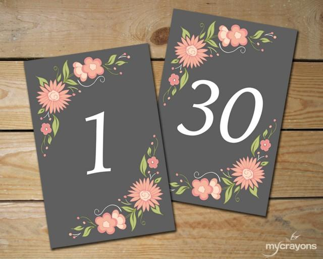 Resource image with free printable table numbers 1-30